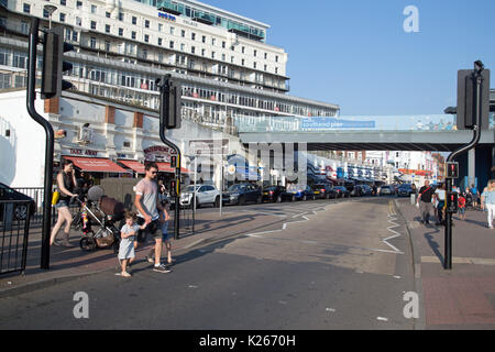 August 2017, Southend On Sea, Essex, England.  Street scene on a busy Bank Holiday Weekend. - Stock Photo