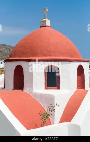 Church dome, Ano Mera, Mykonos, Greece. - Stock Photo