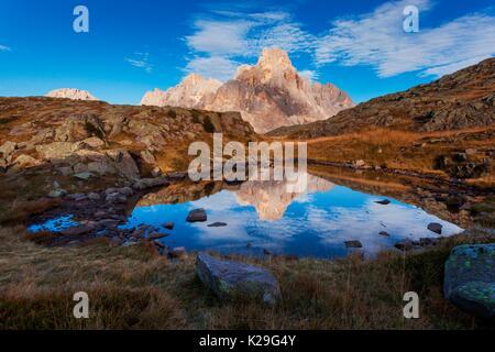 Pale di San Martino from Tognazza, Dolomites, San Martino di Castrozza, Trentino, Italy. - Stock Photo