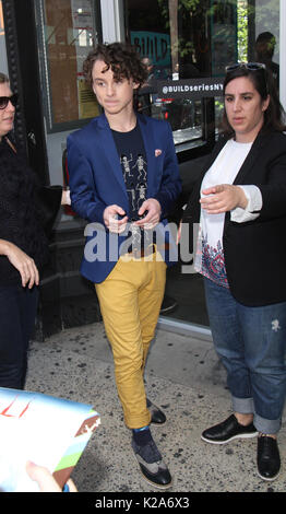 New York, NY, USA. 30th Aug, 2017. Wyatt Oleff at Build promoting the new film IT in New York City on August 30, - Stock Photo