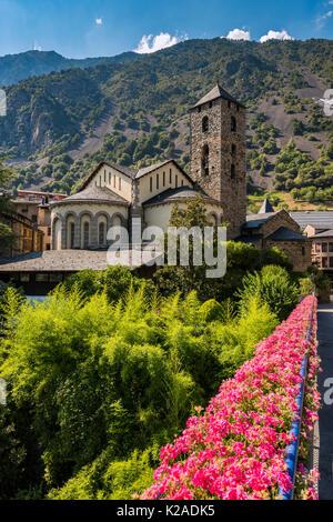 Esglesia de Sant Esteve church, Andorra La Vella, Andorra - Stock Photo