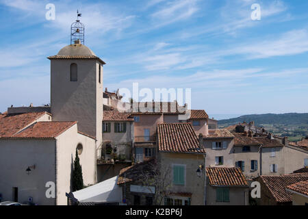 Scenic view of the Provencal village of Ramatuelle on the French Riviera - Stock Photo