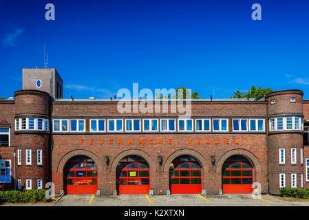 Fire station Veddel, Hamburg, Germany, Europe, Feuerwache Veddel, Deutschland, Europa - Stock Photo
