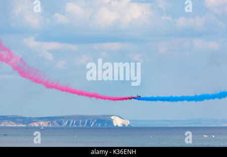 Bournemouth, Dorset UK. 1st Sep, 2017. The second day of the tenth anniversary of the Bournemouth Air Festival. - Stock Photo