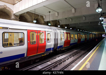 Gloucester Road Underground station in London - Stock Photo