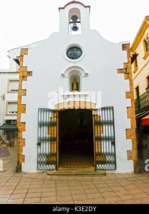 Tossa de Mar old town Vila Vella in Costa Brava of Catalonia masonry stone - Stock Photo