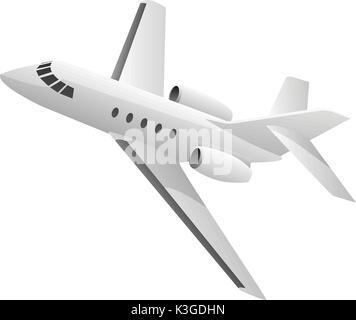 Business Jet Airplane Illustration - Stock Photo