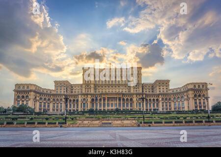 Romania, Bucharest City, Parliament Building, - Stock Photo