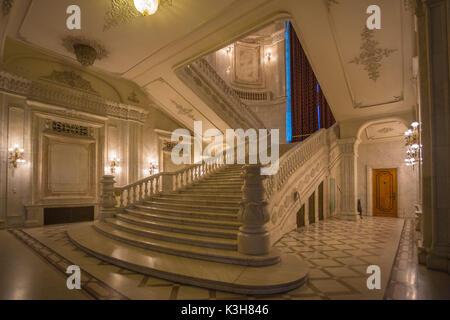 Romania, Bucharest City, Parliament Building, Interior, - Stock Photo