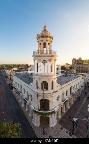 Colonial Zone (Ciudad Colonial), Santo Domingo, Dominican Republic. Colonial architectures. - Stock Photo