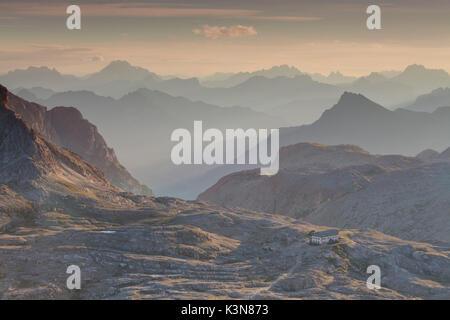 Plateau of Pale of San Martino, San Martino di Castrozza, Trento province, Dolomites, Trentino Alto Adige, Italy, - Stock Photo