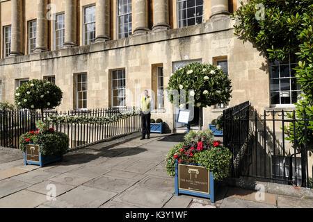 The Royal Crescent Hotel & Spa, Bath, England - Stock Photo