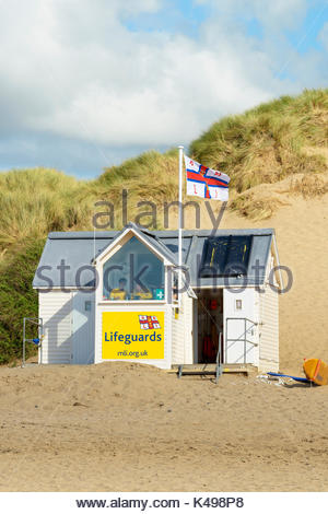 Croyde Beach, Croyde Bay, Devon, England UK - Stock Photo