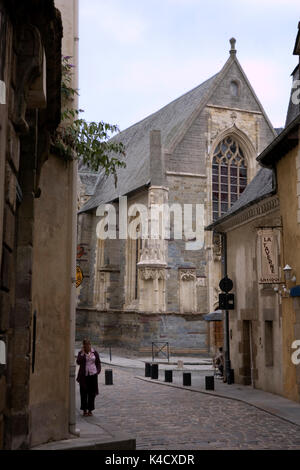 The Chapelle St-Yves, from the Rue des Dames, Rennes, Brittany, France - Stock Photo