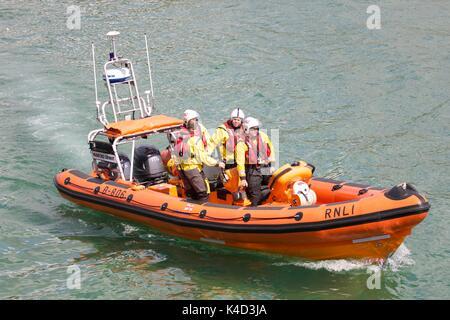 RNLI Lifeboat Mudeford Servant at Bournemouth - Stock Photo