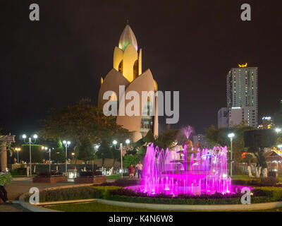 Tower Incense, Thap Tram Huong, Nha Trang, Central - South Vietnam, South East Asia, Spring 2017: [ Night life in - Stock Photo