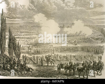 Franco-Prussian War (1870-1871). Battle of Worth, known as the Battle of Reichshoffen or the Battle of Froeschwiller, - Stock Photo