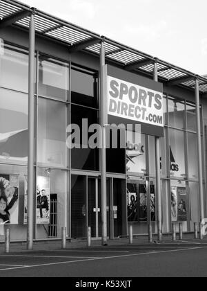 Sports Direct sportswear fashion retailer, established in 1982 by Mike Ashley - Stock Photo