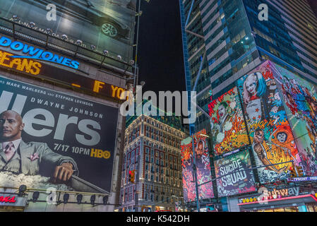 Times Square, USA, New York, NYC, Manhattan - Stock Photo