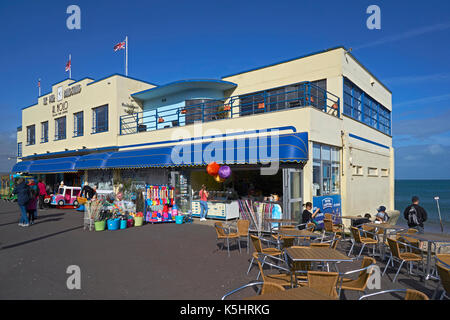 A view of the pier bandstand, Weymouth - Stock Photo