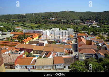 Silves the old Moorish capital of Algarve in Portugal - Stock Photo
