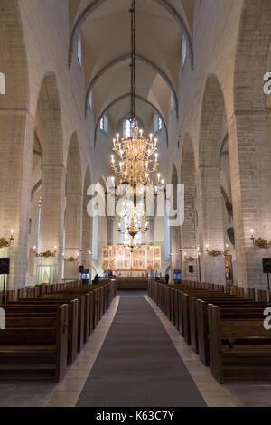 Nave of Niguliste Church, Old Town, Tallinn, Estonia, Europe - Stock Photo