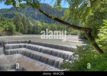 Lechfall near Füssen, waterfall, Bavaria, Germany - Stock Photo