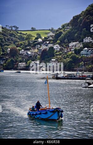 Dartmouth Devon England UK Ferry on the River Dart. - Stock Photo