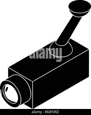 Security camera icon, simple style - Stock Photo