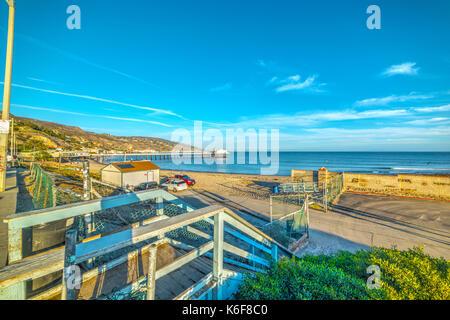 Surfrider Beach in Malibu. California, USA - Stock Photo