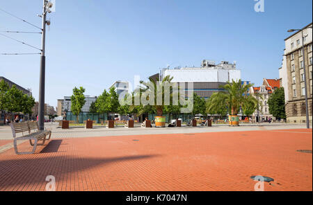 Katowice in Poland, view of the marketplace - Stock Photo