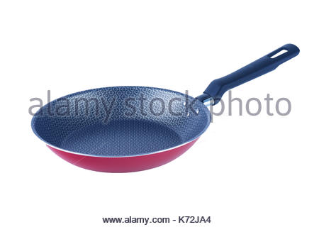 One Red Frying Pan - Stock Photo
