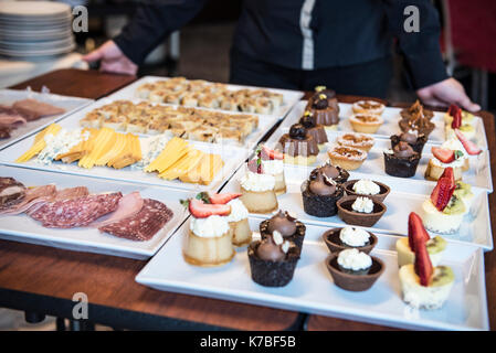 Desserts and appetizers - Stock Photo