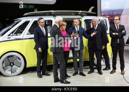 Frankfurt, Germany. 14th September, 2017. International Motor Show 2017 (IAA, Internationale Automobil-Ausstellung), - Stock Photo