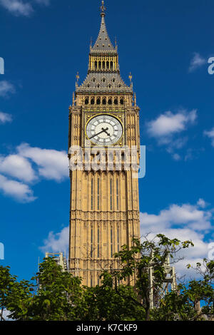 The Big Ben clock tower in London, UK. - Stock Photo