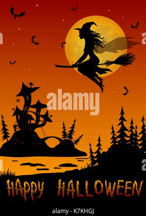 Holiday Halloween Background - Stock Photo