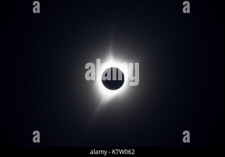 Photo of the Great American Eclipse of 2017, taken from the path of totality in Wyoming. - Stock Photo