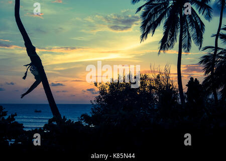Sunset in Jericoacoara, Ceara - Stock Photo