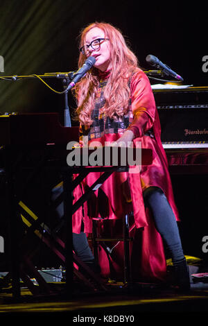 Milan Italy. 17th September 2017. The American singer-songwriter and pianist TORI AMOS performs live on stage at - Stock Photo