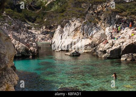 Calanque de Sugiton,Calanques National Park, southern France - Stock Photo