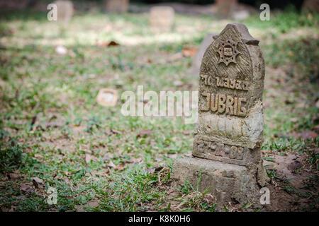 Ubud, indonesia - 28 August 2013: Cemetery at Sacred Monkey Forest Sanctuary on Ubud, Bali, Indonesia - Stock Photo