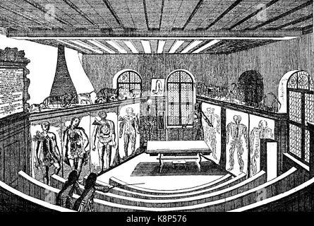 Anatomical theater in the university, Anatomisches Theater in der Universität Altdorf, Deutschland, 1750, digital - Stock Photo