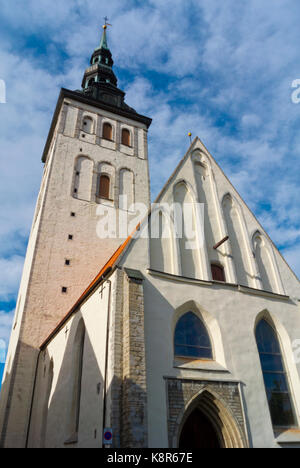 Niguliste kirik, Saint Nicholas church and museum, Vanalinn, old town, Tallinn, Estonia - Stock Photo
