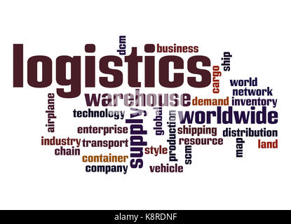 Logistics word cloud - Stock Photo