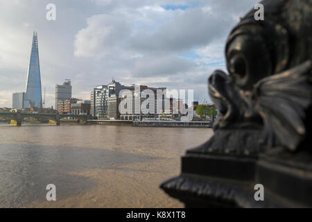 The Shard Building and River Thames, London. - Stock Photo