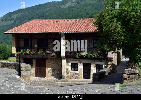 House in Barcena Mayor, Cantabria. Northern Spain - Stock Photo