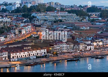 View to Vila Nova de Gaia Porto Portugal - Stock Photo