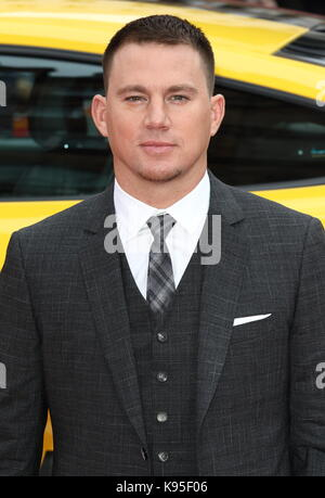 UK premiere of 'Logan Lucky' held at Vue West End - Arrivals  Featuring: Channing Tatum Where: London, United Kingdom - Stock Photo