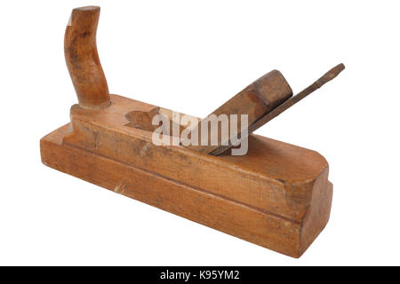 old vitage wooden hand plane - Stock Photo