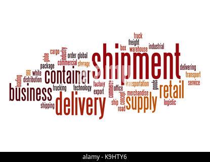 Shipment word cloud - Stock Photo
